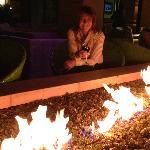 Lobby bar firepit