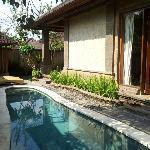 private pool in villa pucuk
