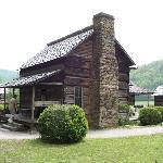 matched log house