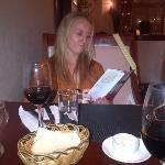 great bread, wine and steak