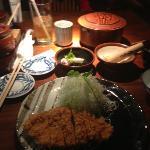 tonkatsu, Miso soup and rice free refill