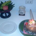 Welcoming honeymoon cake