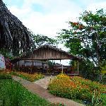 vista giardino e sala colazione