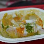 half eaten Raj Kachori