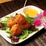 This shimp ball is a delicious appetizer before your meal