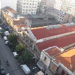 Вид на крыши старого рынка Салоник (там есть ресторанчик Модиано, где вкусно готовят)