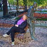Escultura al músico de jazz en el Parque de la Florida