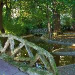 Puente madera en el Parque de la Florida