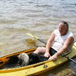 Scott and Bella in Kayak