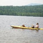 Scott and Jericho in Kayak