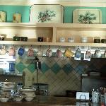Retro decor at Pine Cone Diner