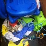 moldy pool items
