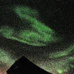 Bright Aurora with visible movement overhead