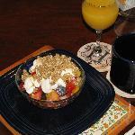 Frischer Fruchtsalat zum Frühstück