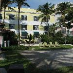 Back of Hotel Overlooking the Grounds and the Boardwalk and Beach