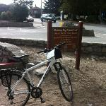 my bike on the cycle path