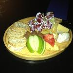 Beautiful cheese board to finish the meal!