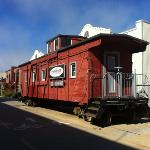 former railroad truck...now a restaurant on the cycle trail
