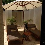 Our private sun terrace and outside shower!!