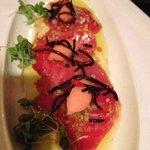 red tuna carpaccio