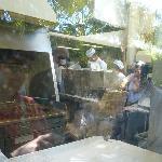the back kitchen of Cafe du Monde
