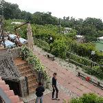 view of garen from upstairs terrace