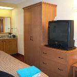 Simple accommodations including refrigerator & microwave