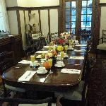 The breakfast table at Ashbury House