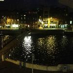 The view of the River Liffey from our room