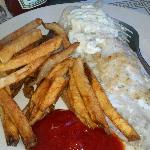Baked Fish with Fries