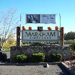 Markham sign seen from the highway