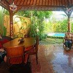One of the poolside verandahs