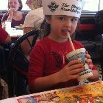 Hat the kids get at Steak n shake