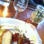 wine tasting and a cheese plate. perfect afternoon