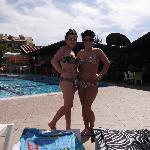 my girls at poolside