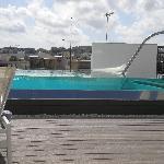 splendida piscina,peccato il panorama