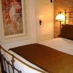Great lighting, ample outlets in rooms and small coffee maker in room as well