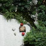 Zen garden on main level