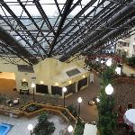 Atrium/courtyard area of hotel