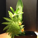 Ikebana of Local Leaves & Roses