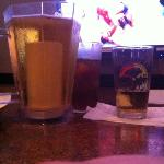 coors on tap with an ice tea and the pay per view
