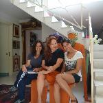 Com a artista plástica Anna Faro (ao centro)