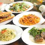 salad,pasta