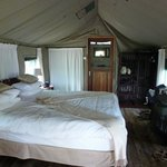 Our tent at Inchingo River Lodge