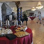 The breakfast buffet room