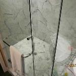 Very nice marble shower