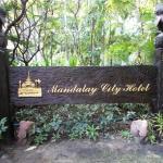 Near entrance to Mandalay City Hotel.