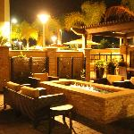 out door seating pool area