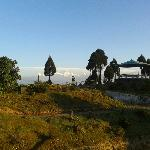 A panaromic view from Jorepokhri Tourist Lodge garden