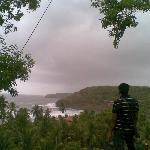 View of Sahayadri Range and the Sea